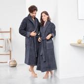 Шикарный Махровый банный халат унисекс Tchibo размер