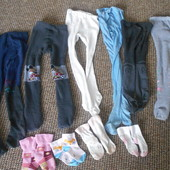 лот колготки та носочки для дівчинки 2-3 роки