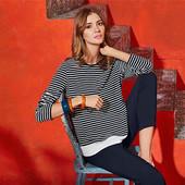 Симпатичная блуза в полоску от Tchibo(Германия), размер евро 44/46 (укр 50/52)