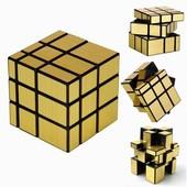 Головоломка Кубик Рубика зеркальный куб золотой!