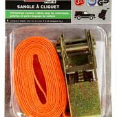 Стяжной ремень с трещеткой 5м Powerfix Profi оранжевый