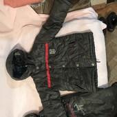 Куртка +комбез,на флисе 4-5 лет