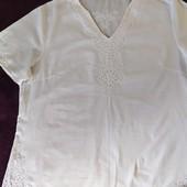 Легкая натуральная блуза 52-54 р.