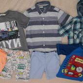 Пакет фирменных вещей 5-6 лет мальчик