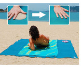 Пляжная подстилка 200x200 анти-песок Sand Free Mat, пляжный коврик, коврик для
