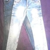 2 пари класних джинсів на зріст 128-136