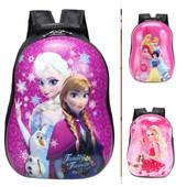 Детский рюкзак для девочки с мультгероями каркасный