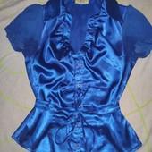Атласная блузка на размер 42