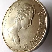 монета Великобритания, юбилейная, 25 пенсов, 1972, Королевская серебряная свадьба