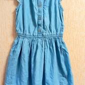 Люкс!! Джынсовое платье с вишывкой на 5-6 лет!!
