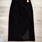 Фирменная новая красивая юбка с разрезом по ноге р.12-14