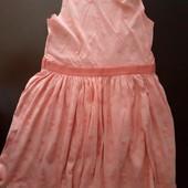 Хлопковый фирменный сарафан на девочку, размер 134