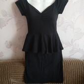 Стильное платьеце с баской от New look✓Вискоза✓Тянется супер✓В идеале✓Много лотов✓