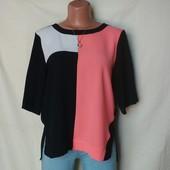 Фирменная качественная блузочка с разрезиками, River Island,m/L