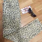 Леопардові джинси! Укорочені, розмір L!!! . Легкі літні джинси!