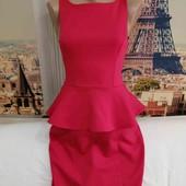 Стрейчевое платье с баской, Atmosphere, размер XS-S