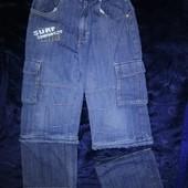Тонкие джинсы-бриджи 122-128 TCM