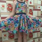 Нарядное легкое платье