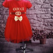 Стильное новое платье Gucci . Турция. Размер 5-6