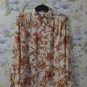 Красивая блуза в цветы ! УП скидка-10%