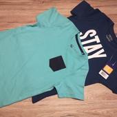 Германия! Коттоновые футболки на мальчика, 2 шт! Размер 110-116 см.