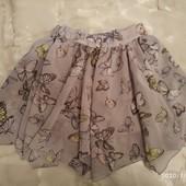Красивая ассиметричная юбочка с бабочками. Matalan.3-4г.98/104. Состояние идеал.