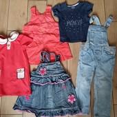 Пакет вещей на девочку на 1-2 года, р.80-92