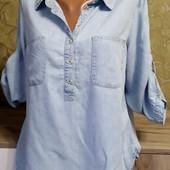 Собираем лоты!!! Женская джинсовая рубашка, размер 40