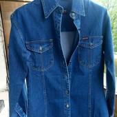 Стильна! Джинсова куртка - сорочка фірми West Land розмір L