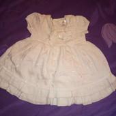 Платье на выписку или на крестины 0-4 мес