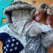 Курточка Little brilliant,угги и шапочка