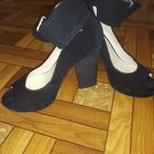 Туфли замшевые 24,5