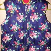 Шикарная теплая жилетка для девочки