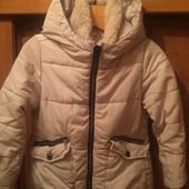 Куртка, еврозима, пуховик, р. 6 лет 116 см. Zara. состояние отличное
