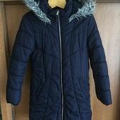 Куртка, зима, внутри флис, размер 8-9 лет 128-134 см, Bluezoo. состояние отличноe