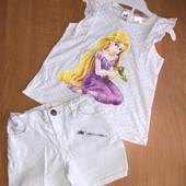 Стоп! Комплект для девочки: шорты и футболка