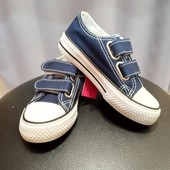 Детские темно-синие кеды All Star на липучках размер 27