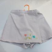 Стоп!!,фирменные удобные натуральные шорты- юбка от carter's