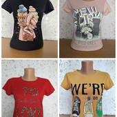 Большой выбор! Качественные женские футболочки, Турция, 100% хлопок, размер s, m, l, xl, замеры!