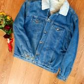 Така річ в продажі - рідкість, не пропустіть, Тепла джинсова куртка, чоловіча, Л, ⚡