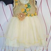 Милое платье со стразами и вышивкой. Лоты комбинирую бесплатно