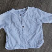 Льняная рубашка Next на 9-12 мес