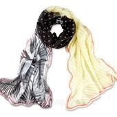 Комбинированный большой шарф-шаль от Tchibo (Германия)