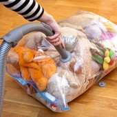 Многоразовый вакуумный пакет отличного качества для хранения вещей 60*50 см