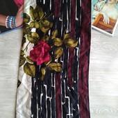 Шелковый платок с розой 100%шелк