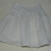 Красивая легчайшая юбочка с вышивкой и стразами 3/4 года Monsoon