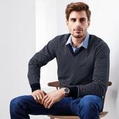 ⚙Элегантный свитер-пуловер из био хлопка, Tchibo (Германия), рр. наши: 48-50 (M евро), нюанс