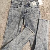 Классные джинсы скинни, бренд H&М размер 152 (новые, с бирками)