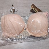 Англия!!! Шикарный брендовый бюстик нежного персикового цвета! 34Дд (75Д), маломерит в обьеме! 32£!