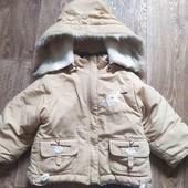 Зимняя курточка на овчине фирмы Bokollo+теплый полукомбинезон на 2 года